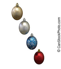 oval christmas decorations