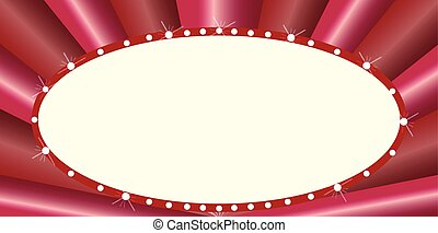 Oval Cinema Style Marquee - A blank oval cinema theatre...