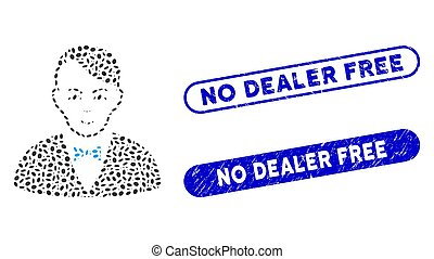 Oval Collage Dealer with Textured No Dealer Free Seals