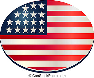 oval flag usa pin