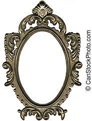 oval, frame.