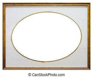 oval, frame madeira