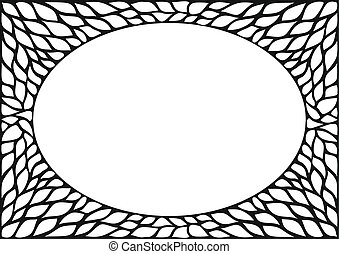 Oval frame with natural texture