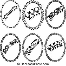 oval frame with ornaments