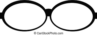 Oval glasses icon, simple style.