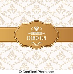 Oval golden frame vector. Luxury packing in art deco style. A place for congratulations or company name