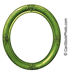 Oval green frame clipping path