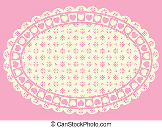 Oval Heart Border with Victorian Ey