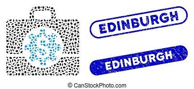 Oval Mosaic Bank Career Options with Textured Edinburgh Seals