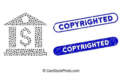 Oval Mosaic Bank Office with Distress Copyrighted Watermarks