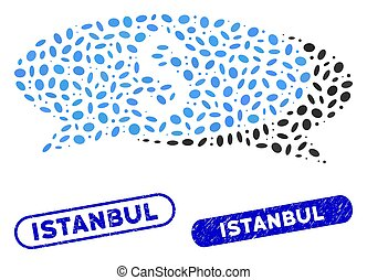 Oval Mosaic Financial Chat with Distress Istanbul Watermarks