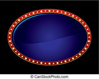 oval, néon