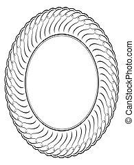 oval, ornamental, decorativo, vector, marco