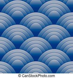 oval, padrão, azul, seamles
