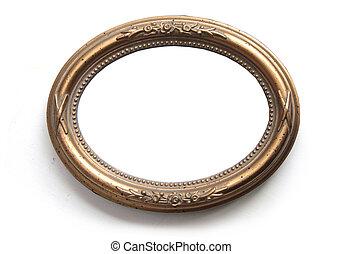 Oval photo frame