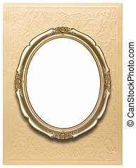 Oval photo frames  (Clipping path)