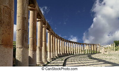 Oval Plaza in Gerasa, Jordan - Forum (Oval Plaza) in Gerasa...