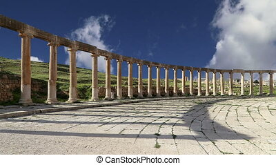 Oval Plaza in Gerasa, Jordan - Forum (Oval Plaza) in Gerasa...