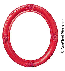Oval red frame clipping path