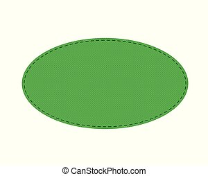 oval, remiendo, puntadas