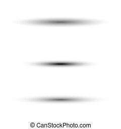 Oval shadow for tab dividers isolated on white vector set for your web design.