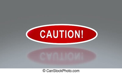 oval signage of caution - the notice of traffic sign for...