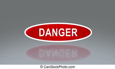 oval signage of danger - the notice of traffic sign for...