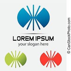 oval, sinal, logotipo, desenho, modelo