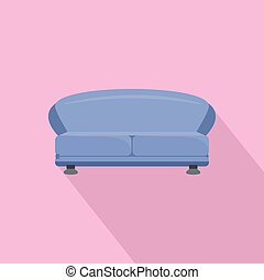 oval, sofá, ícone, estilo, apartamento