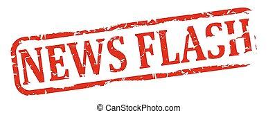 Oval stamp - news flash
