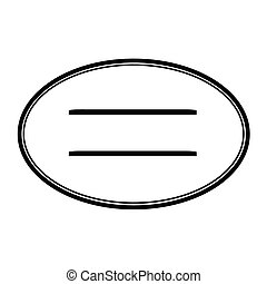 Oval stamp with lines
