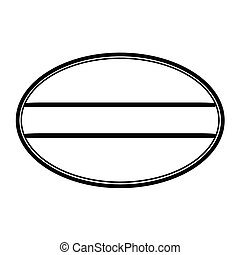 Oval stamp