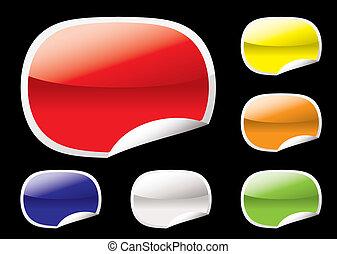 oval, tela, papel, cáscara, elemento