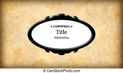 title plate - oval title plate with flourishes and space for...