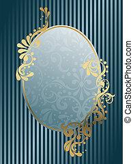 oval, vendimia, victoriano, marco