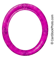 Oval violet frame clipping path