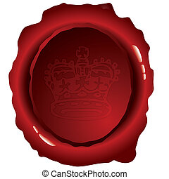 oval wax seal - Old fashioned wax seal ideal to indicate...