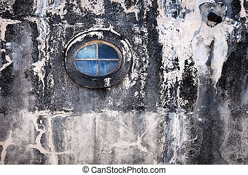 window on the old wall