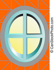 Oval window. - The window in the form of, an oval on the...