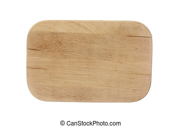 oval wooden notice board on white background