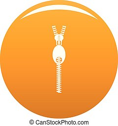 Oval zip icon vector orange