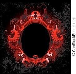 ovale, bannière, rouges