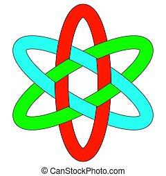 ovale, ineinandergreifen, rgb, ellipsen, schablone, logo, ...