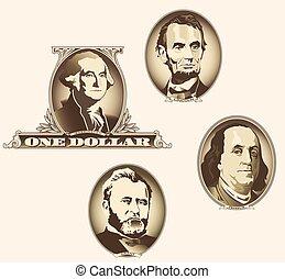 ovale, note, présidentiel, éléments