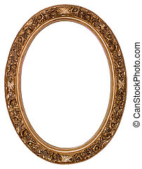 ovale, oro cornice immagine