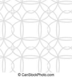 ovale, seamless, vektor, pattern.