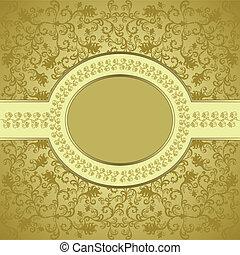 ovaler rahmen, quadrat, bordered