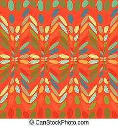 Ovals colorful abstract background.