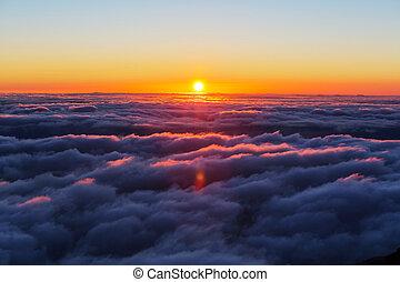 ovanför, skyn