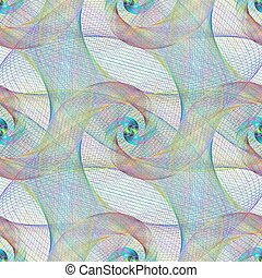 ovanlig, mönster, seamless, spiral formge, fraktal